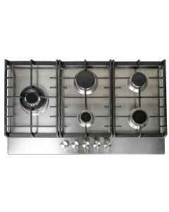 Signature SCGH91X 90CM 5 Burner Gas Hob Wok And Cast Iron Pan Supports